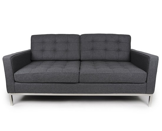 Florence Knoll Loveseat in Cashmere Wool CF029-2