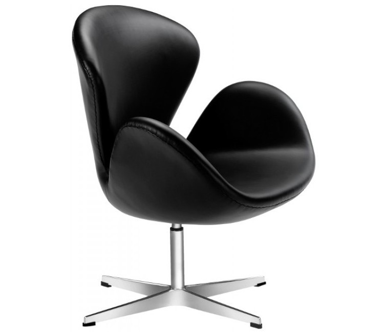 100% reproduction of Fritz Hansen Leather Swan Chair PV027