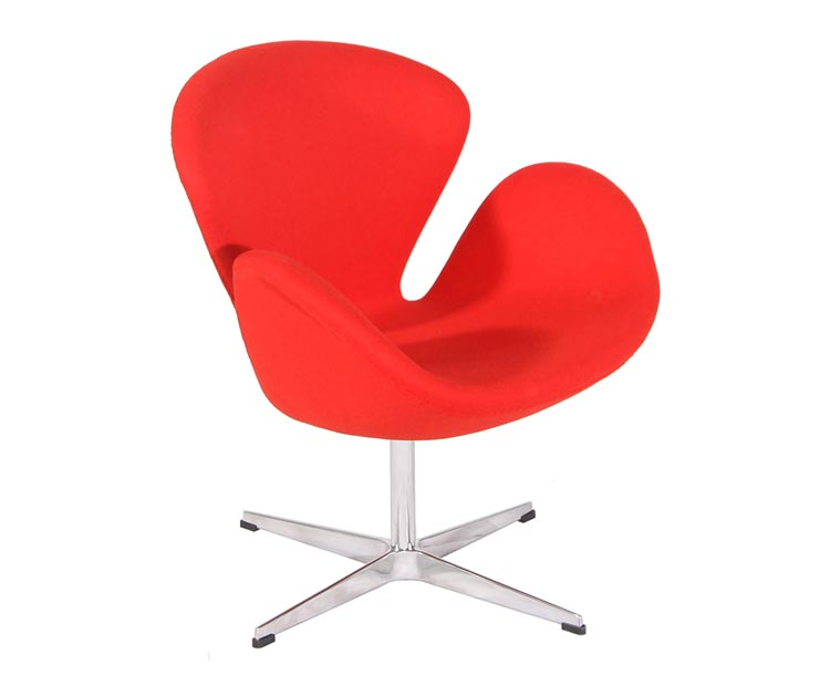 Arne Jacobsen cashmere wool swan chair replica PV027