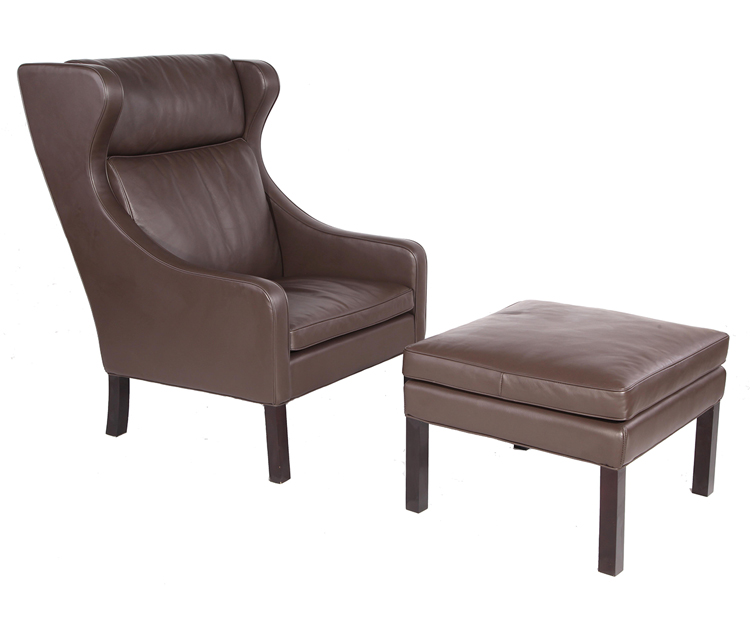 Borge Mogensen 2204 Lounge Chair and Ottoman PV055-1-D