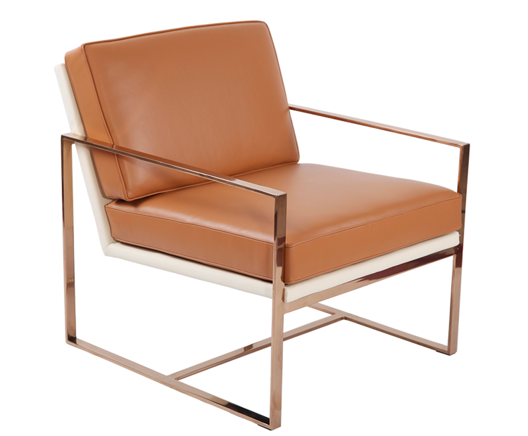 Angles Leather Lounge Chair KC034