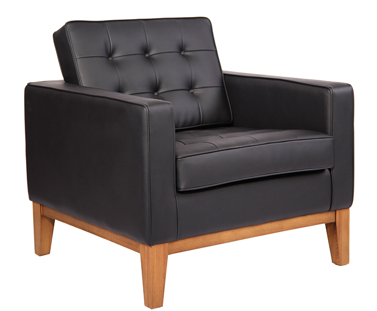 Knoll Style Wood Frame Sofa DS007-1