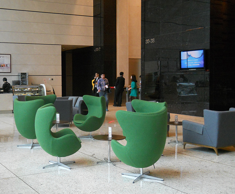"<span class=""search_hl"">Furniture</span> Project Egg Chair in Cashmere for a Restaurant in Shenzhen"
