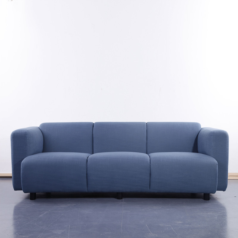 Modern Blue Fabric 3 Seater Sofa KS027-3