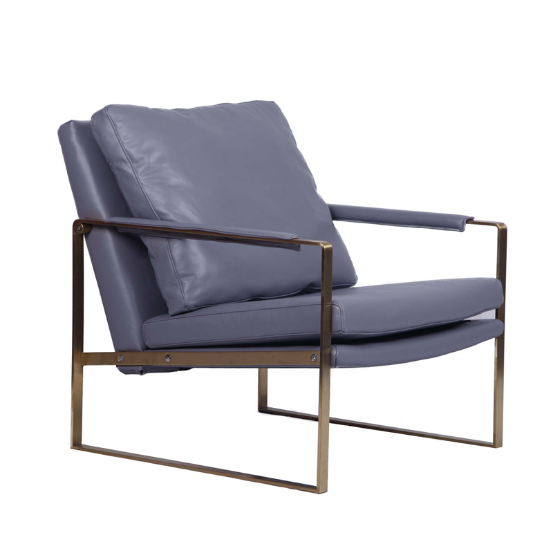 Modern Zara Stainless Steel Lounge Chair YD081