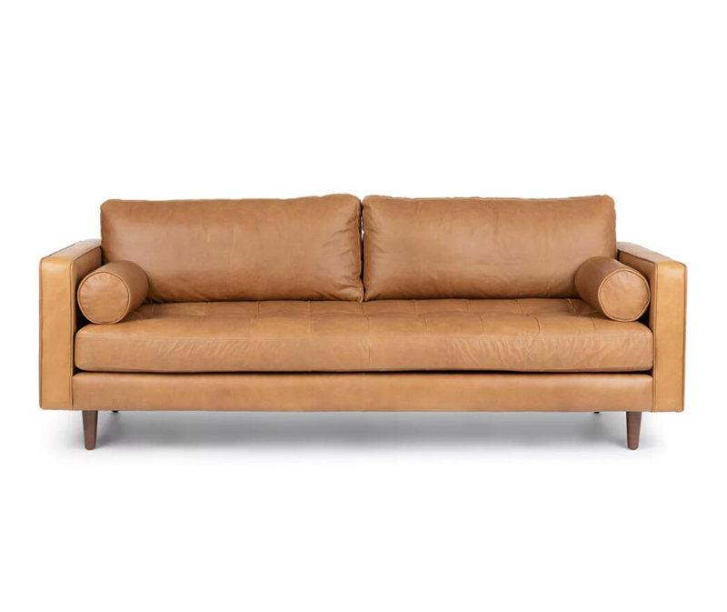 Fantastic Mid Century Modern Sven Charme Tan Leather Sofa Classic Sofa Pdpeps Interior Chair Design Pdpepsorg