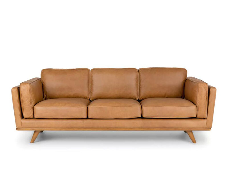 Timber Charme Tan Leather Sofa KS071-3