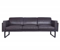202 OTTO Dark Brown Leather Sofa DS004-3T
