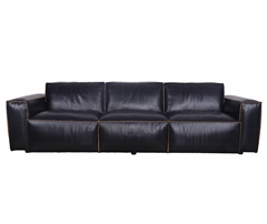 Emin Leather Sectional Sofa KS057