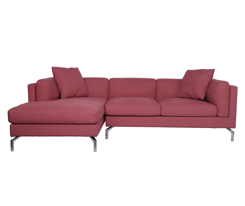 Como Red Fabric Sofa Sectional KS011