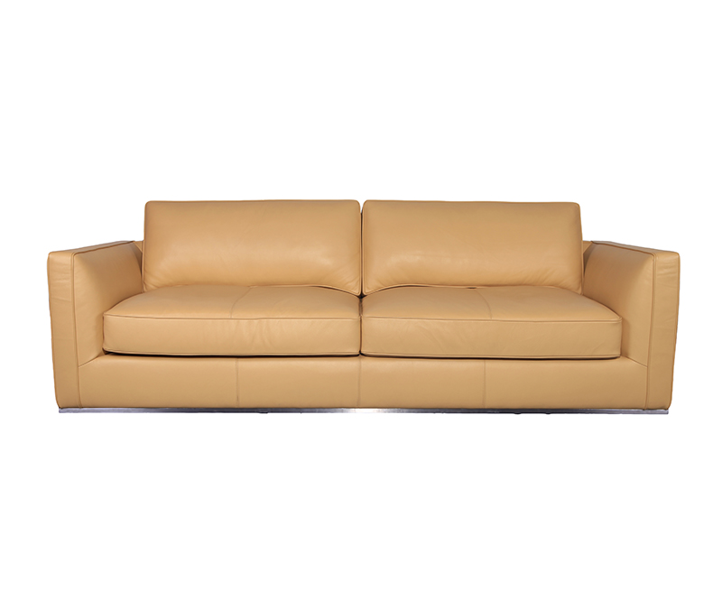 Tan Leather Richard Sofa KS068-3